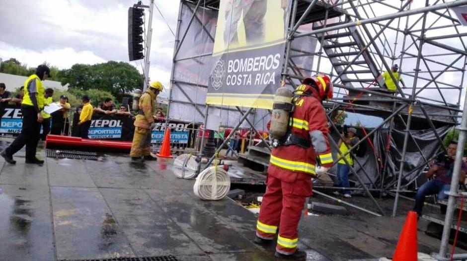El bombero guatemalteco ganó en su quinta participación el Primer Lugar del certamen bomberil. (Foto: Bomberos de Costa Rica)