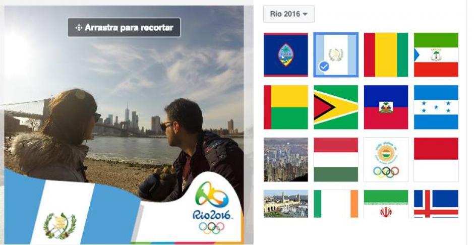 Personaliza tu foto de perfil con la bandera de tu país para apoyar a los atletas que se encuentran en Río de Janeiro. (Captura de pantalla de Facebook)