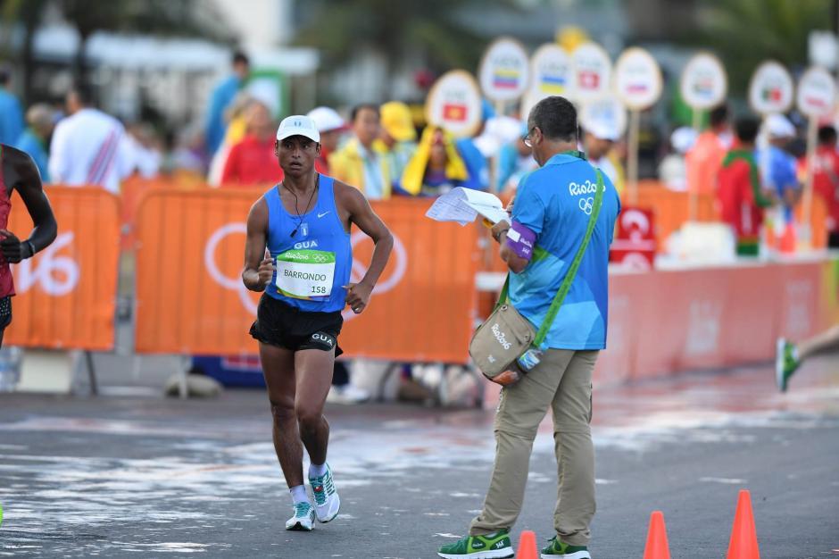 Erick Barrondo llegó en el puesto 50, en la prueba de 20 kilómetros. (Foto: Sergio Muñoz/Enviado ACD)