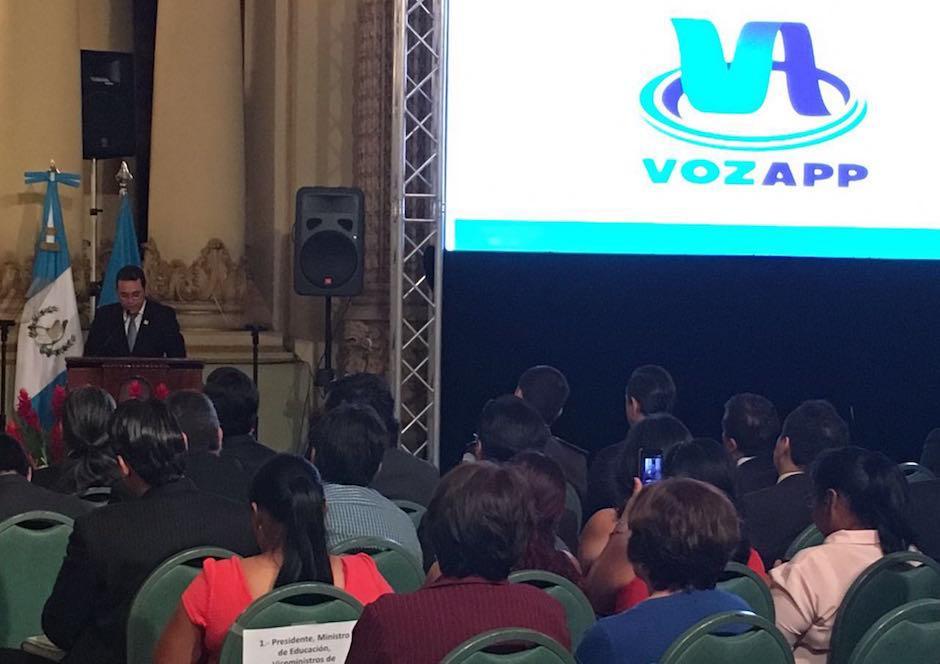 El presidente Morales tomó la palabra para hacer un llamado la reflexión sobre lo que sucedió con el joven Ángel Ariel Escalante. (Foto: Unicef Guatemala)