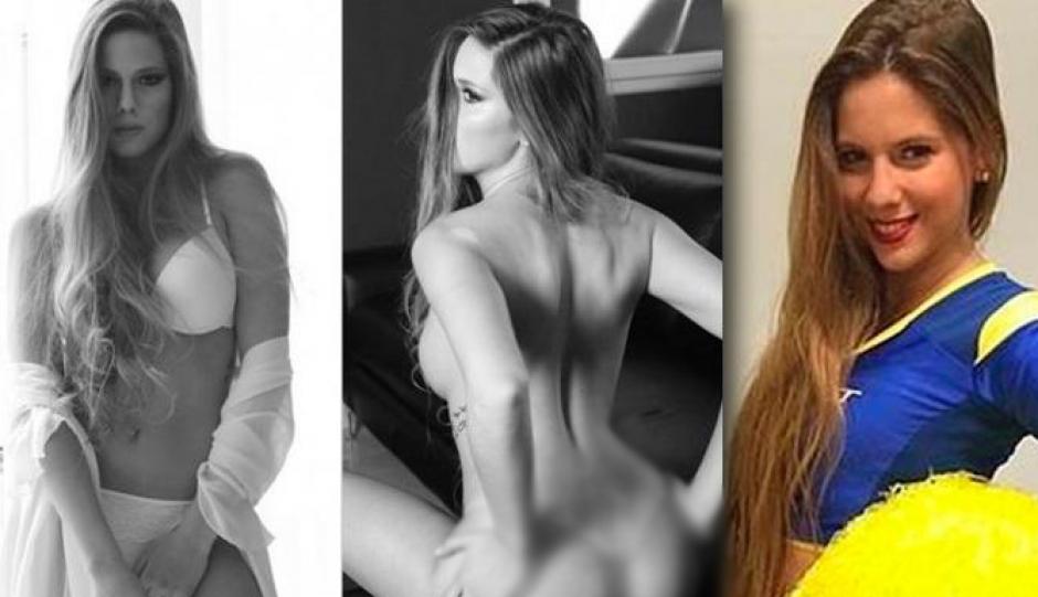 La sexy, Julieta Ortiz, porrista de Boca Juniors demandó al club por despedirla tras posar desnuda pata un revista en España. (Foto: Interviú)