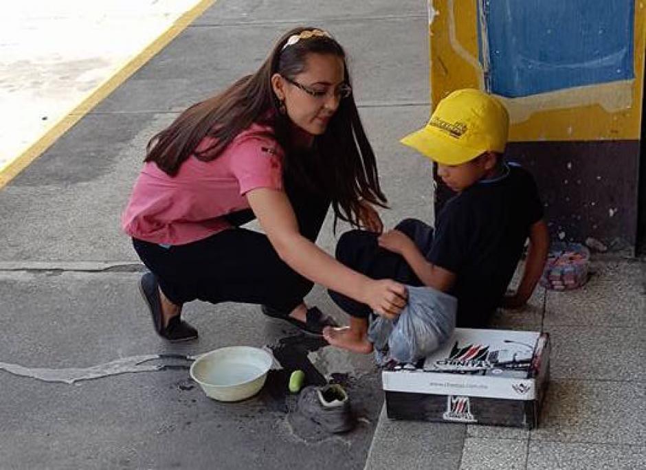 Esta fue una de las imágenes compartidas en las redes sociales que conmocionó a muchos guatemaltecos. (Foto: Jhon Monsalve)