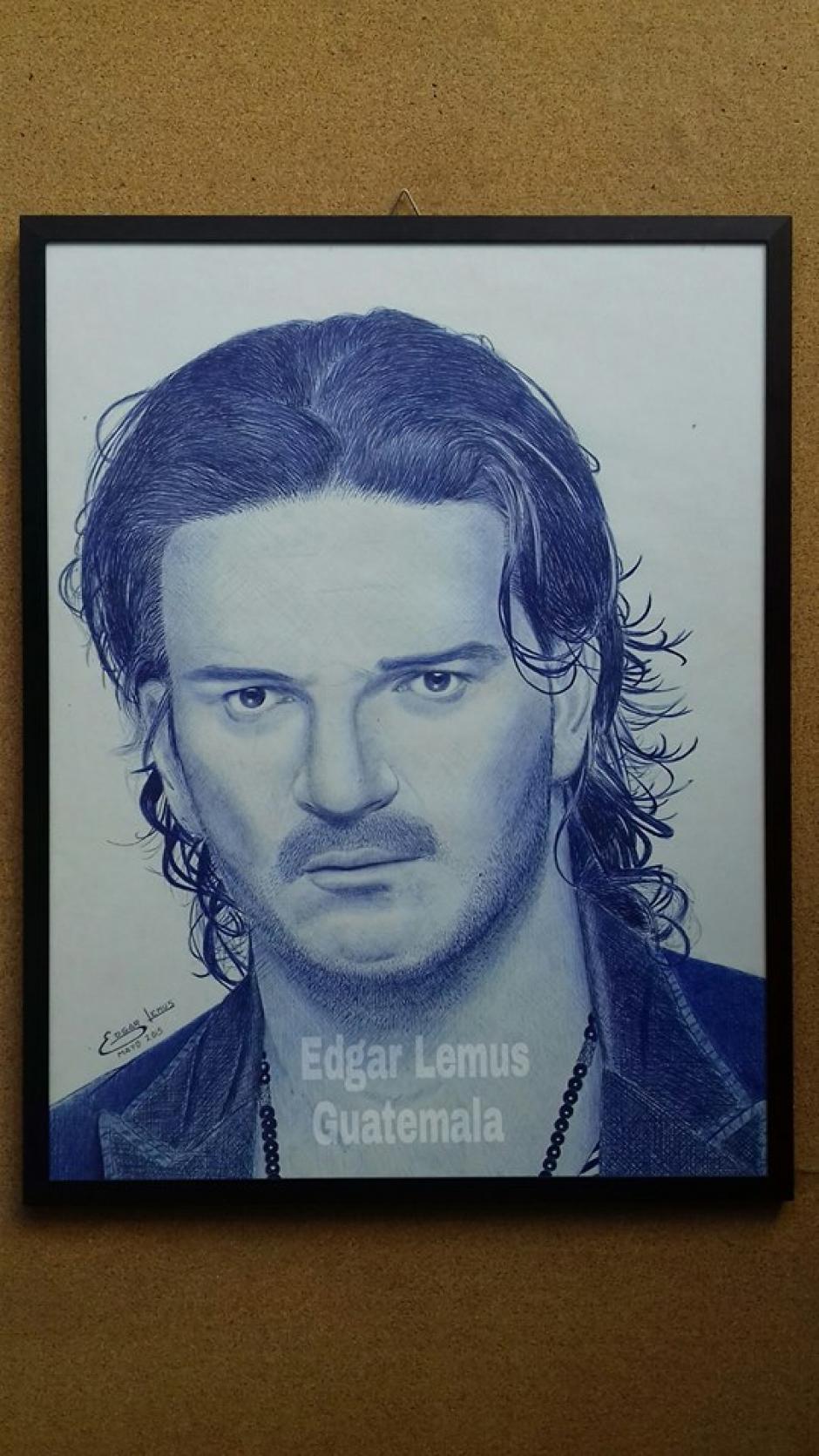 Edgar Lemus espera un día no muy lejano entregar personalmente su obra a Ricardo Arjona. (Foto: Edgar Lemus)