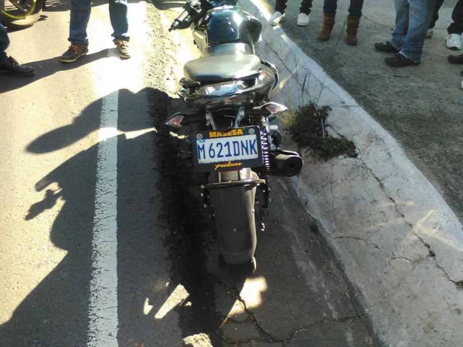 Se reporta un motorista atropellado en el kilómetro 15. (Foto: Fredy Hernández/Soy502)