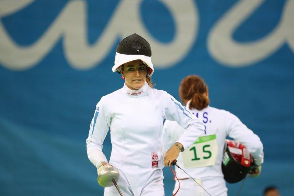 Isabel Brand terminó en el puesto 30 en la primera ronda de esgrima. (Foto: Comité Olímpico Guatemalteco)