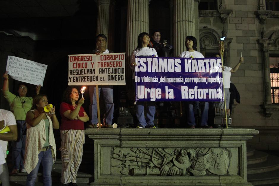 Las personas clamaron por la urgencia de las reformas a la Ley Electoral. (Foto: Alejandro Balam/Soy502)