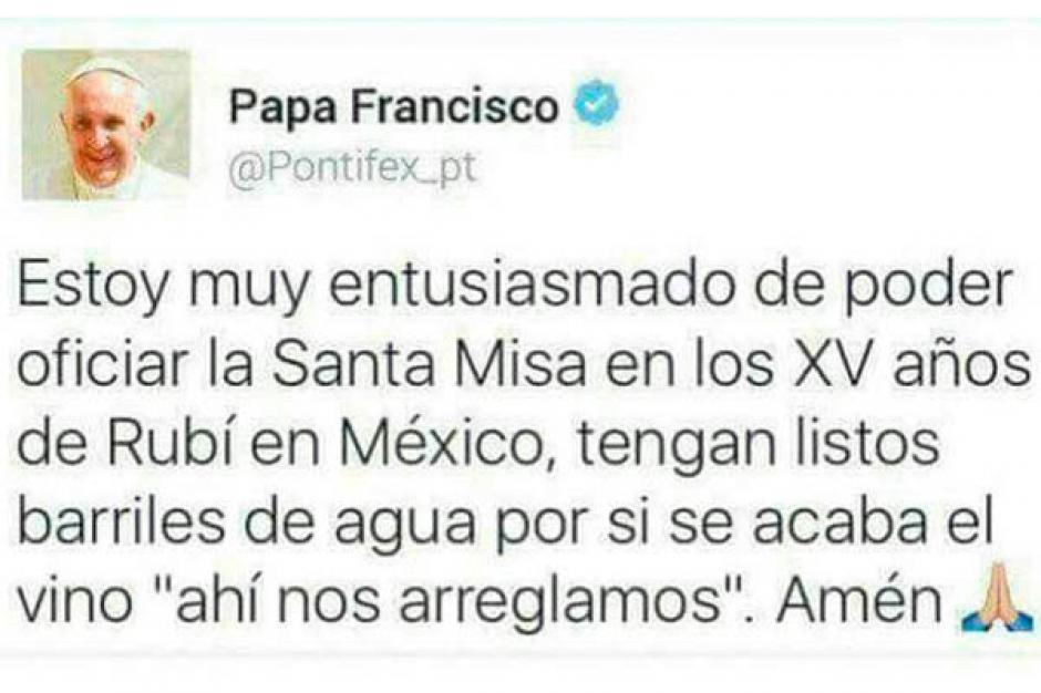 Las parodias llegaron hasta al mismo Papa Francisco. (Imagen: Twitter)