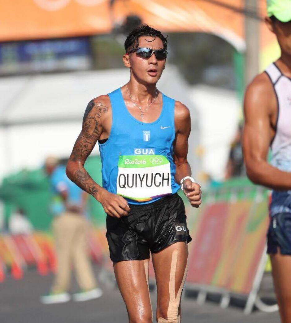 El atleta Jaime Daniel Quiyuch fue descalificado en el kilómetro 30. (Foto: @COGuatemalteco)