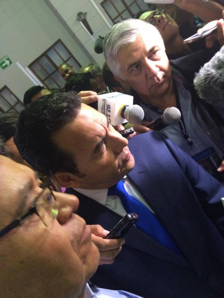 Herber Melgar Padilla (a la derecha de la imagen) es el reemplazo de Alsider Arias. (Foto: Archivo/Soy502)