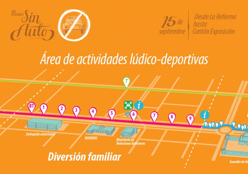 La idea es conectar avenida Las Américas, avenida Reforma y la séptima avenida de la zona 4. (Foto: Biciudad)