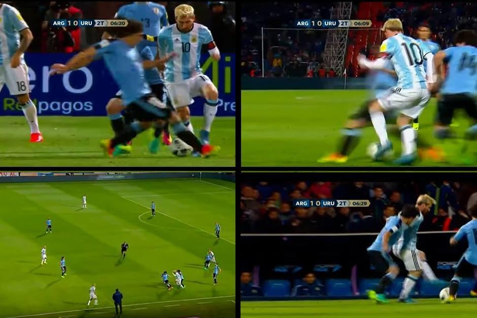 Leo Messi volvió a hacer magia contra Uruguay. (Imagen: capturas de Pantalla)