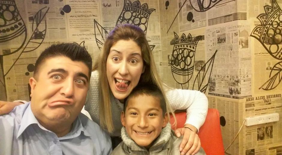 Agustina se reunió con Julio y Jean Carlos para celebrar el cumpleaños del pequeño. (Foto: Agustina Márquez)