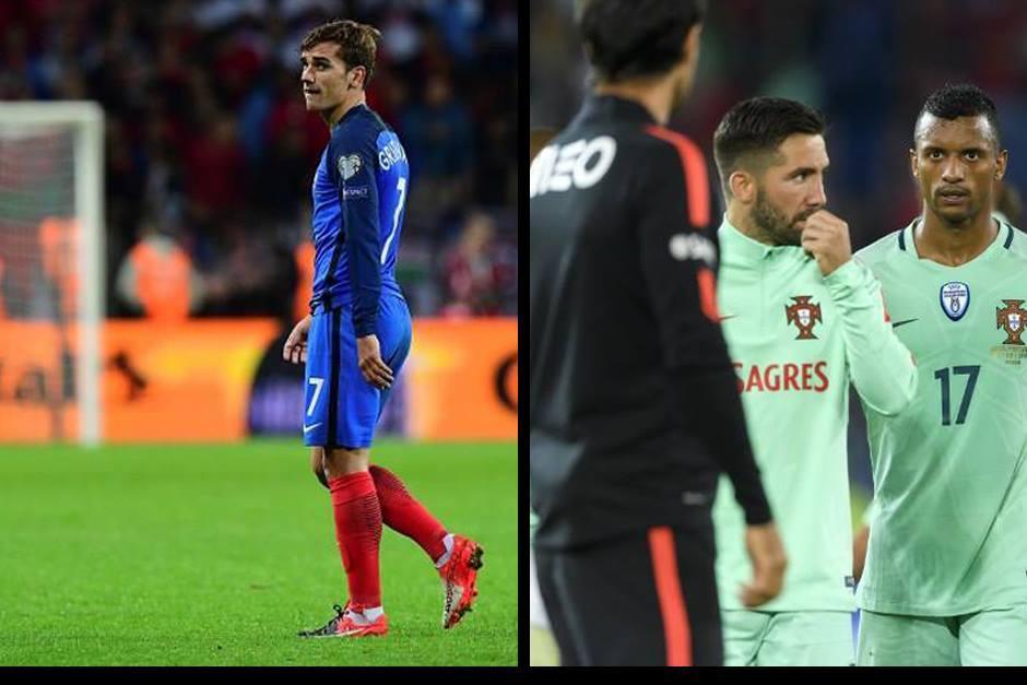 Antoine Griezmann y Nani no destacaron, como en la Euro. (Fotos: AFP)