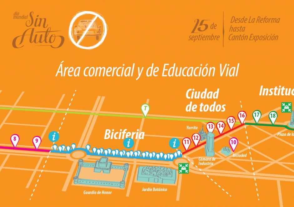 Serán cerca de seis kilómetros de actividades conmemorativas al evento. (Foto: Biciudad)
