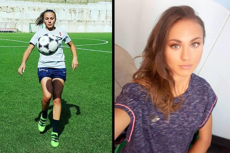 Debora Novellino tiene 19 años y es defensora del Bari. (Instagram)