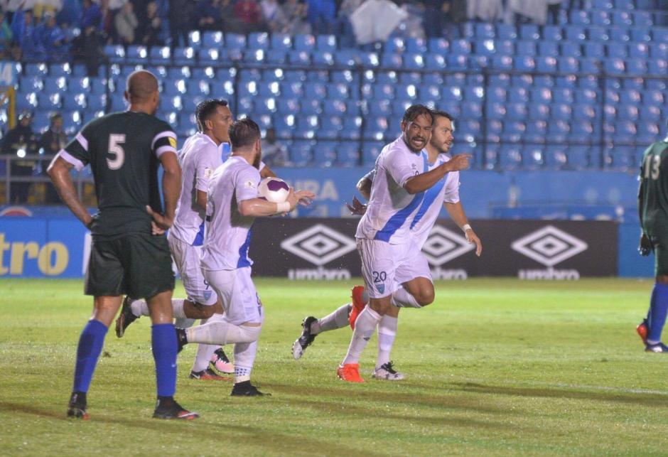 El capitán de la Selección dejó el partido al minuto 90 con nueve goles a favor. (Foto: Wilder López/Soy502)