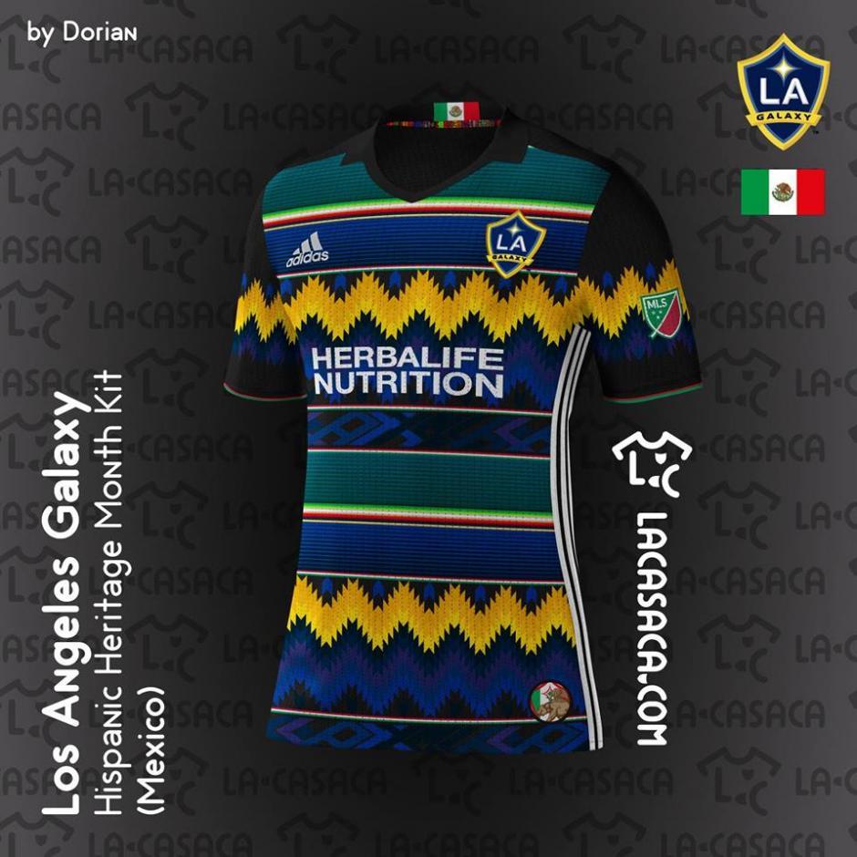 La camiseta de Los Ángeles Galaxy muestran los diseños de los sarapes mexicanos. (Foto: La Casaca)