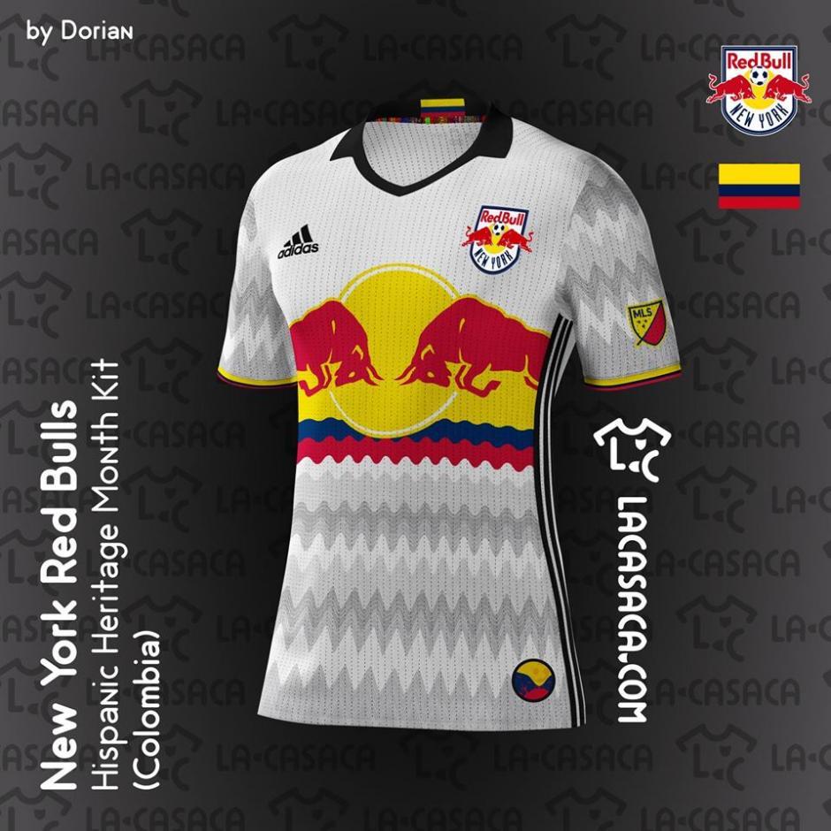 La camiseta del New York Red Bulls muestra los colores de la bandera colombiana. (Foto: La Casaca)