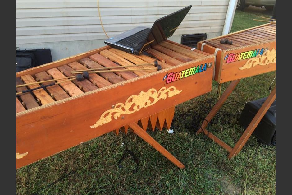 La marimba fue construida en Estados Unidos, y es el orgullo de los guatemaltecos en Delaware. (Foto: Diego López)
