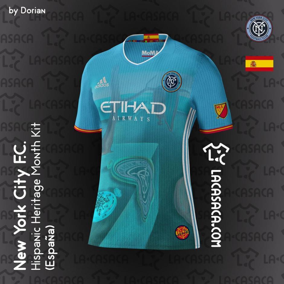 David Villa y la cultura española estará reflejada en la camiseta del New York City. (Foto: La Casaca)