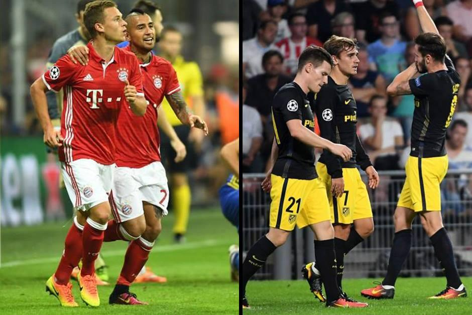 El Bayern goleó, mientras el Atleti ganó en un campo difícil. (Fotos: AFP)