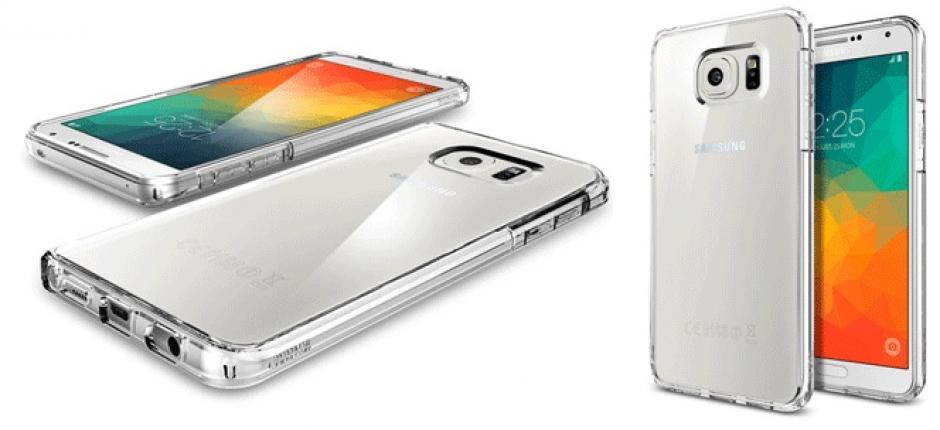 Las imágenes permiten ver algunos detalles de los nuevos dispositivos de Samsung. (Imagen: Spigen)