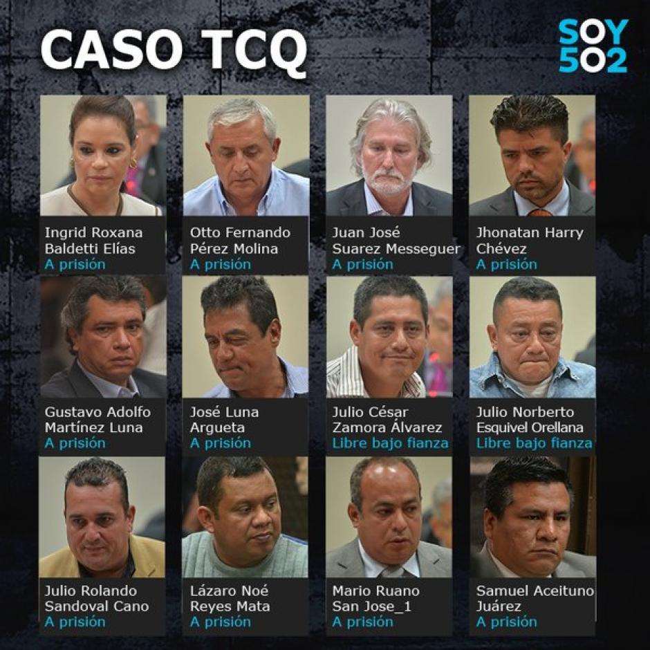 Estos son algunos de los señalados en el caso TCQ. (Imagen: Soy502)