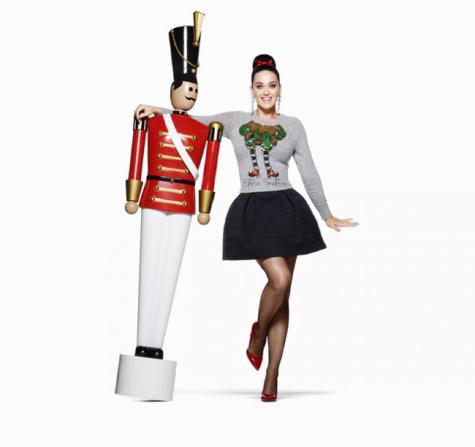 Katy Perry luce hermosa en la campaña de H&M. (Foto: H&M)