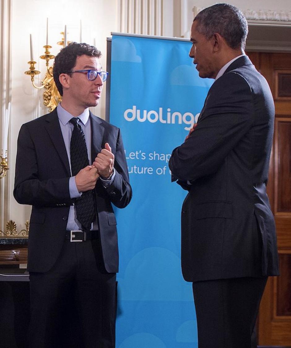Luis von Ahn ha tenido encuentros con figuras de la talla de Barack Obama. (Foto: Luis von Ahn)