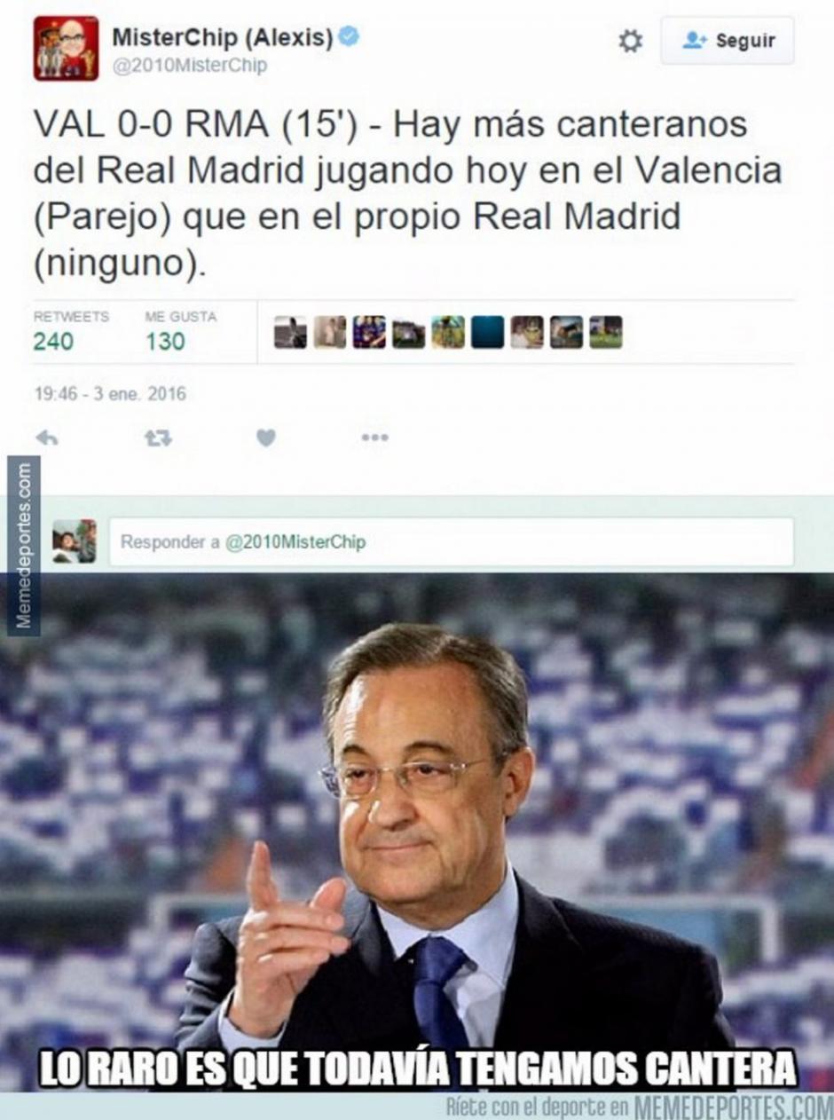 Florentino Pérez, no podía faltar en los memes.