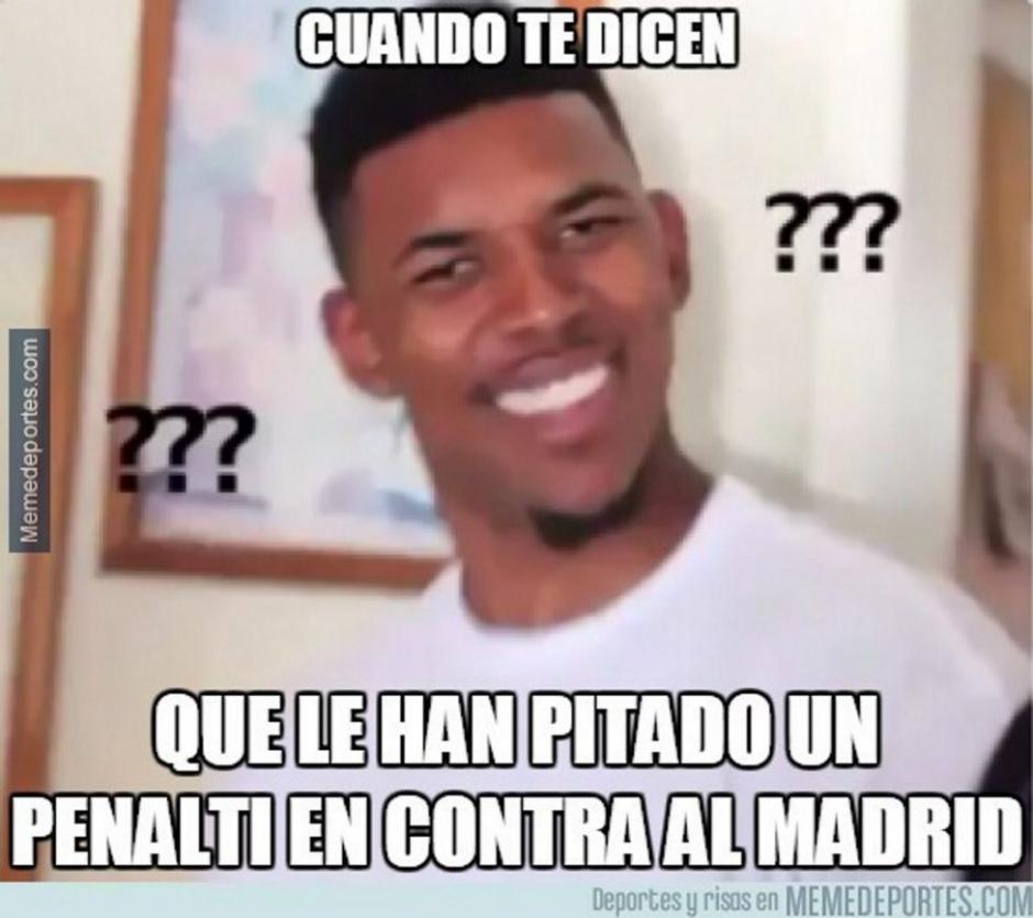 El cobro de penal en contra a Real Madrid también fue objeto de memes.