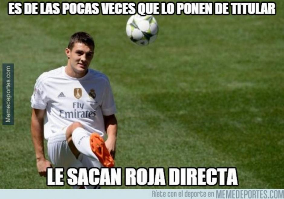 Mateo Kovacic, también apareció en los memes, tras su expulsión.