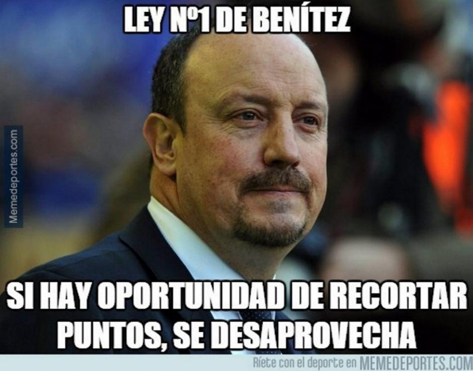 Uno de los objetivos en los memes fue Rafa Benítez, tras el 2-2 de Valencia y Real Madrid.