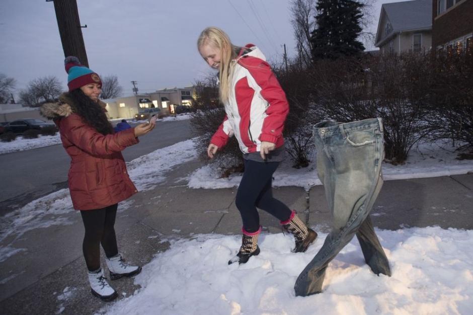 Los residentes de Minesota han encontrado una forma creativa de enfrentar las bajas temperaturas. (Foto:Startribune)