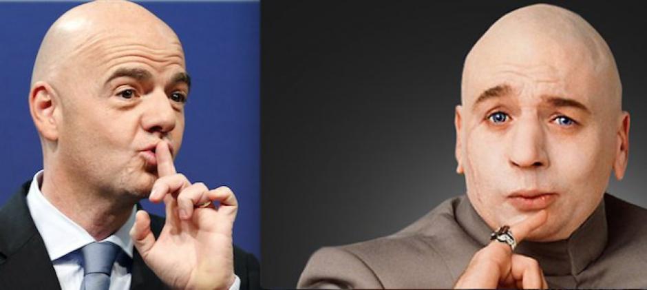 """Las rede sociales han recibido con """"memes"""" al nuevo presidente de la FIFA. (Imagen: la10.pe)"""