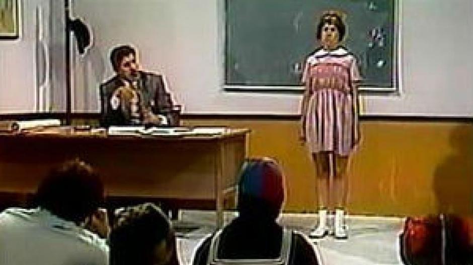 """""""Elizabeth la Sabelotodo"""" era la mejor estudiante de la clase del Profesor Jirafales. (Foto. t13.cl)"""