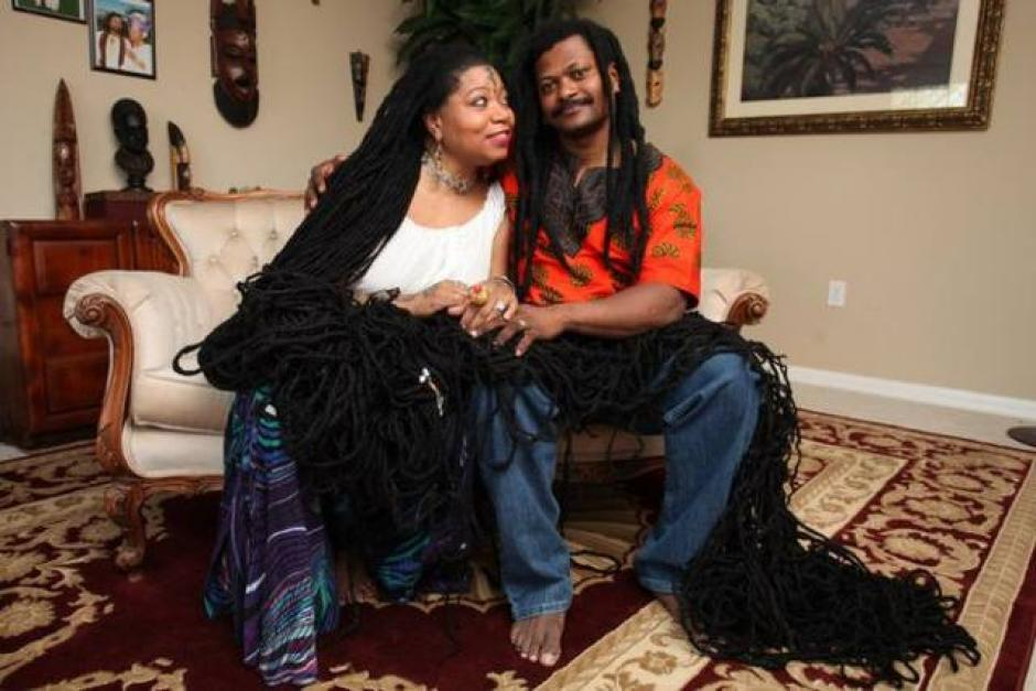 "Asha Zulu Mandela es conocida como la ""Rapunzel rasta"". (Foto: www.elsalvador.com)"