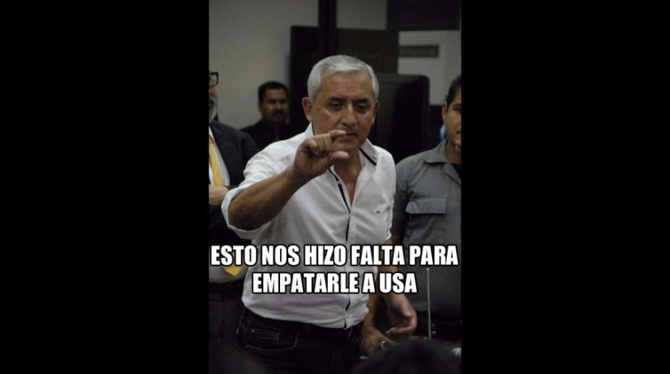 Hasta Otto Pérez Molina sirvió para crear algunas graciosas imágenes. (Imagen: foxsportsla.com)