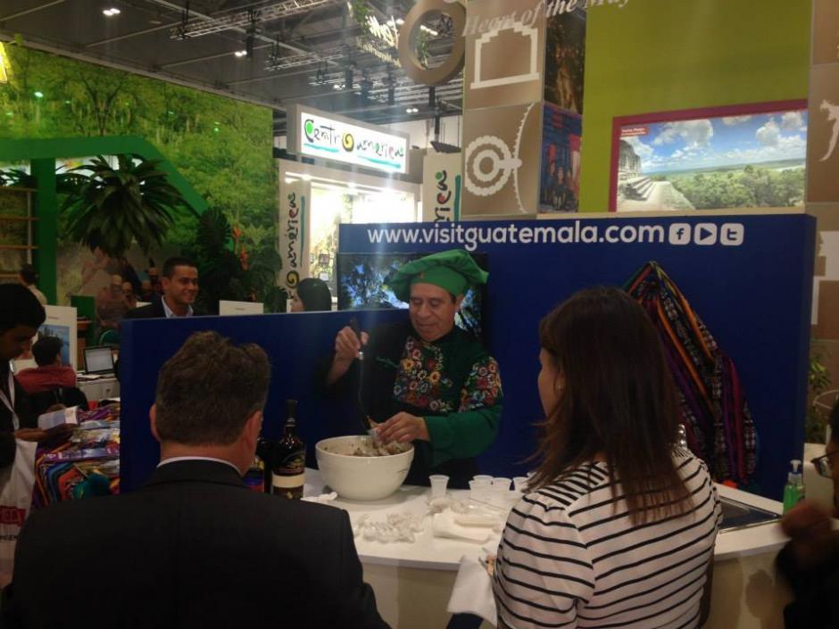 Como Embajador de la Gastronomía Guatemalteca había visitado recientemente varias ferias de turismo en Alemania y España de la mano del Inguat.