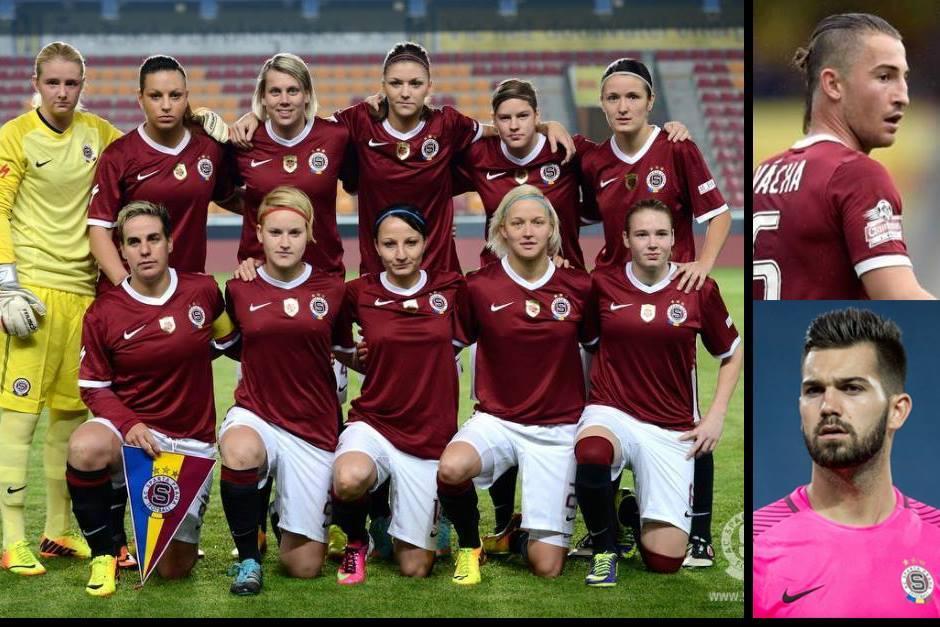 """El equipo femenino del Sparta Praga tendrá a dos """"invitados"""". (Fotos: Sparta.cz)"""