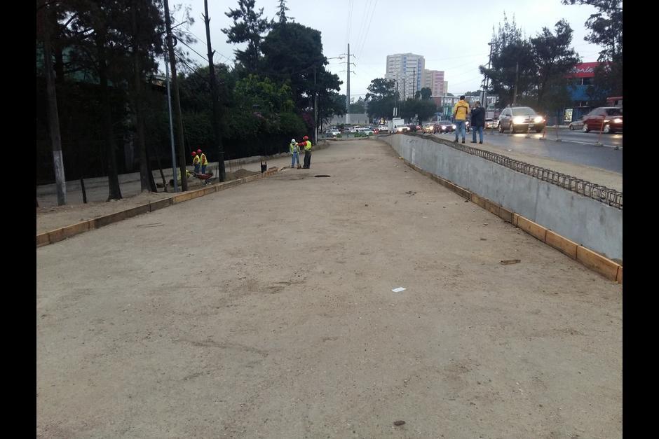 Esto se debe a los trabajos de ampliación de un tercer carril sobre este puente. (Foto: Municipalidad de Guatemala)
