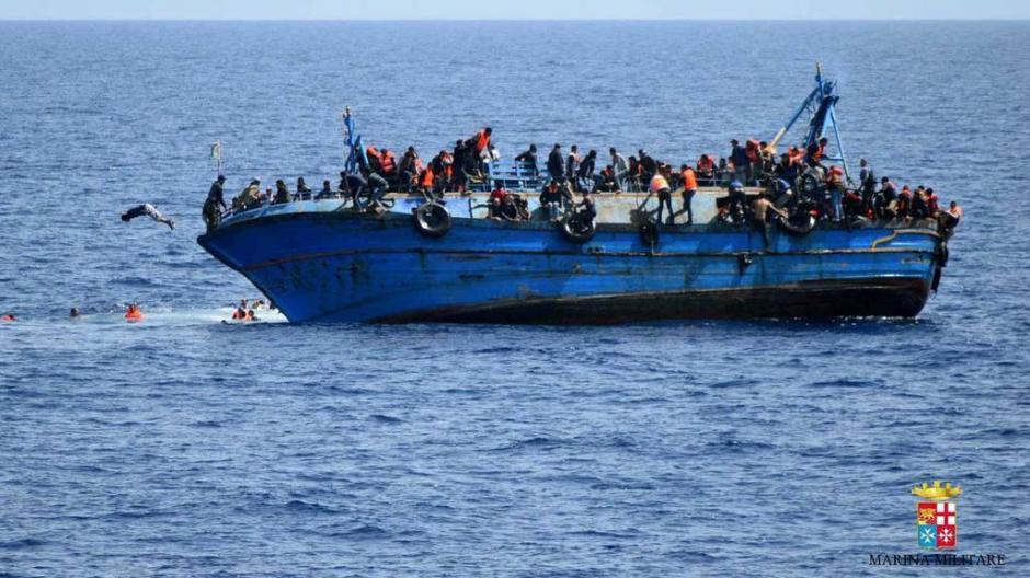 Varias personas continúan desaparecidas. (Foto: Marina italiana)