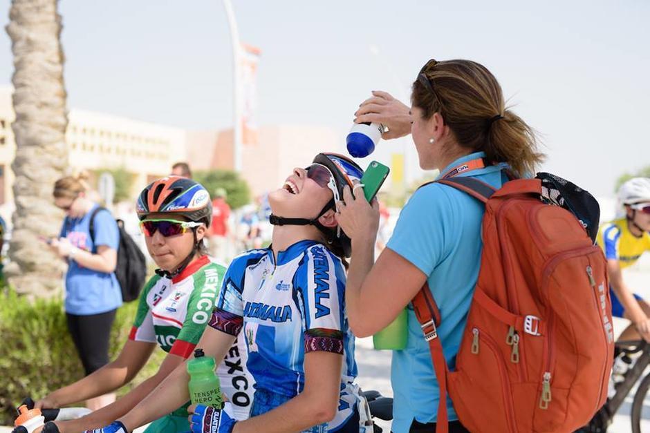 La guatemalteca Nicolle Bruderer brilló en el Mundial de Ciclismo. (Foto: COG)