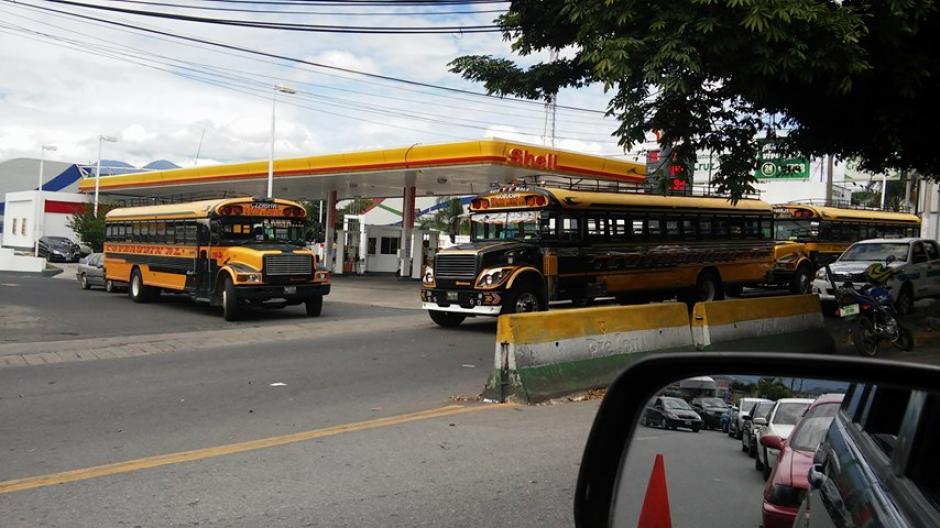 El lunes se podría dar el paro de buses de Villa Nueva. (Foto: Verónica Gamboa/Soy502)