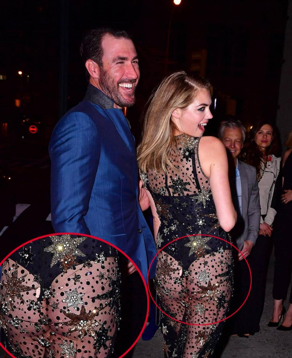 A Kate Upton poco le importó el agujero de su traje. (Foto: as.com)