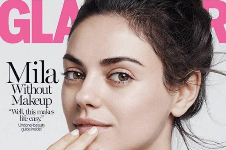 Mila Kunis ya es parte de la última tendencia entre las famosas: Posar sin maquillaje. (Foto: Glamour)