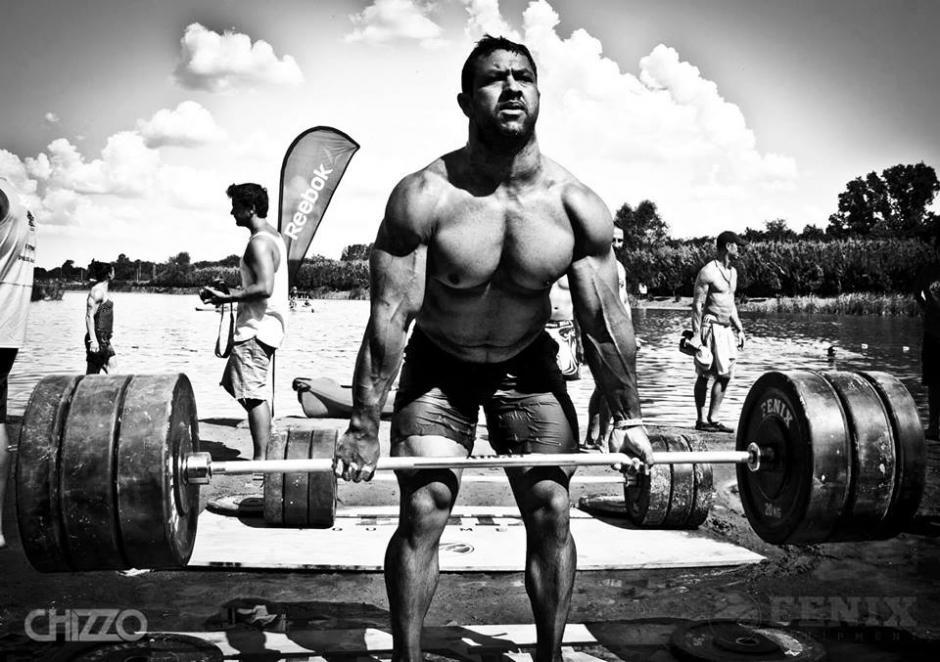 El gladiador guatemalteco en plena competencia. (Foto: Joel Bran)