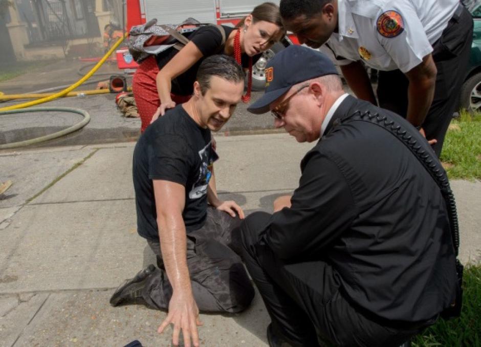 Gideon Hodge dijo no haber sentido miedo por las llamas. (Foto: Matthew Hinton)