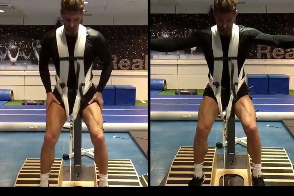 Imágenes del trabajo de Ramos en el gimnasio. (Foto: Instagram)