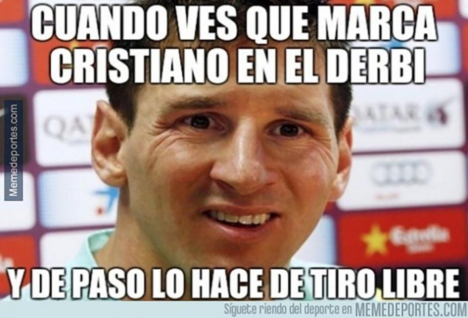 Hasta Messi figura en los memes del derbi de Madrid. (Foto: Twitter)